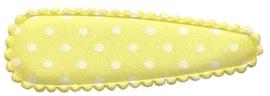 Haarkniphoesje Geel met witte stippen 5 cm