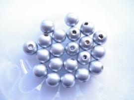 Speenkoord Kralen Zilver 8mm