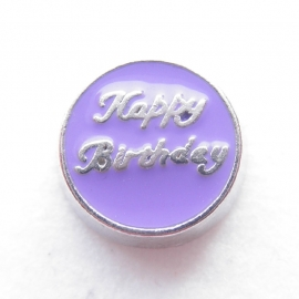 MC017 Happy Birthday Paars
