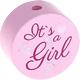Speenkoord Kraal It's a Girl Pastel Roze 20mm