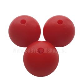 Silicone Kraal Warm Rood 12mm | kralen voor het maken van een spenenkoord