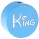 Speenkoord Kraal King Baby Blauw 20mm