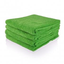 Handdoek met naam Groen 50x100