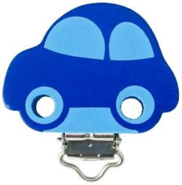 Speenclip Motief Auto Donker Blauw/Baby Blauw 30x40mm