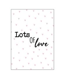 Ansichtkaart 'Lots of love'