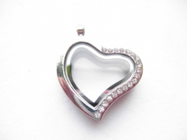 Memory Locket Hart Strass