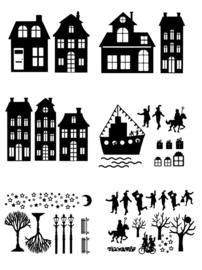 Sinterklaas Stickerset Combi 1 | Set A, B, D, F, G, H