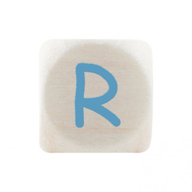 Letterkraal R Blauw