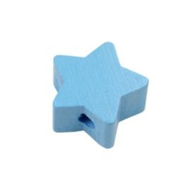 Speenkoord Kraal Ster klein Baby Blauw 19mm