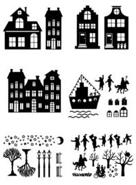 Sinterklaas Stickerset Combi 2 | Set B, C, E, F, G, H