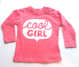 Shirt lange mouw 'Cool Girl'  maat 74