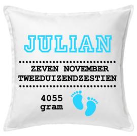 Geboorte Kussen Julian