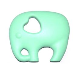 Siliconen Bijt Olifant Mint Groen
