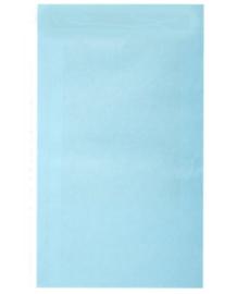 Kadozakje effen Kraft Licht Blauw 12x19cm | Per 5 stuks