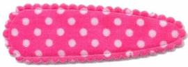 Haarkniphoesje Knal Roze met witte stippen 5 cm