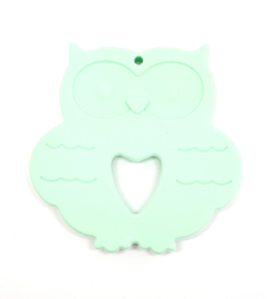 Silicone Bijt Uil Mint Groen
