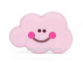 Siliconen Kraal voor speenkoord Wolkje Baby Pink 30x20mm