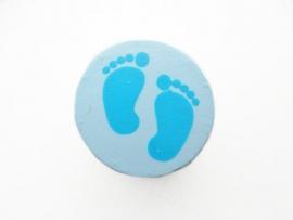 Speenkoord Kraal Babyvoetjes Pastel Blauw 16mm