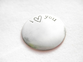 Memory Locket Plate - I Love You
