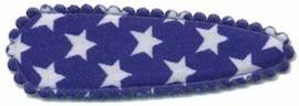 Haarkniphoesje Donker Blauw met witte sterren 5 cm