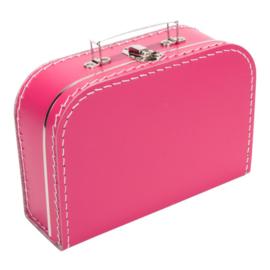 Kinder Koffertje met naam, geboortedatum en Flamingo model Mila, 25cm