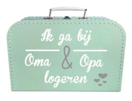 Kinder Koffertje ' Ik ga bij Oma en Opa logeren' 25cm