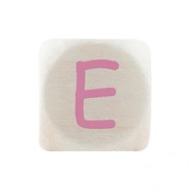 Letterkraal E Roze