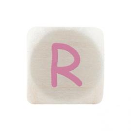 Letterkraal R Roze