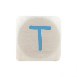Letterkraal T Blauw