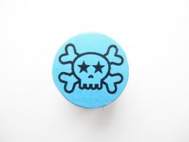 Speenkoord Kraal Doodskop Baby Blauw 20mm