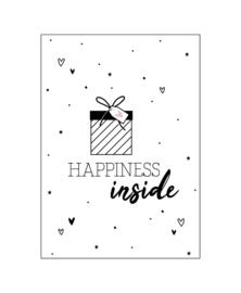 Ansichtkaart 'Happiness Inside'
