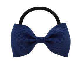 Haar elastiekje met strik Donker Blauw