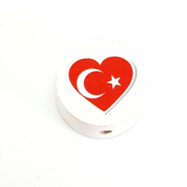 Speenkoord Kraal Turkse Vlag Wit 20mm