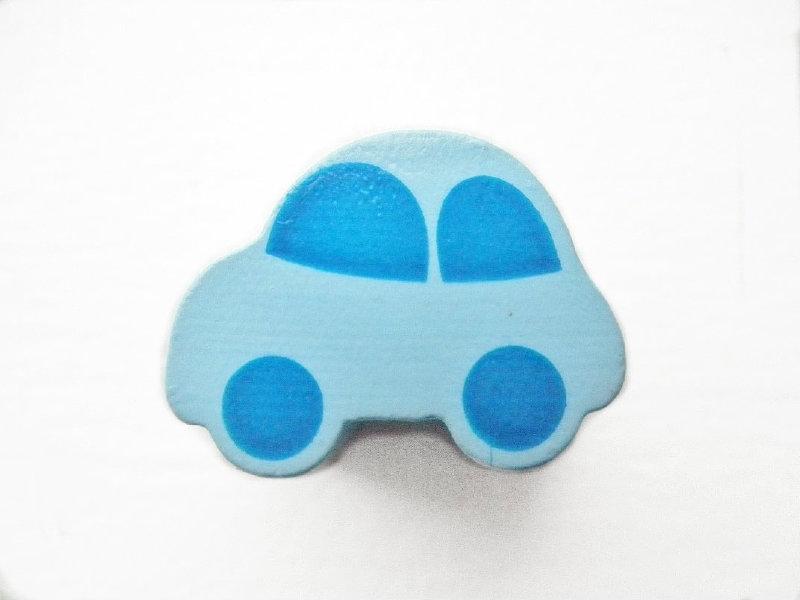 Auto Pastel Blauw/Midden Blauw 13x17mm