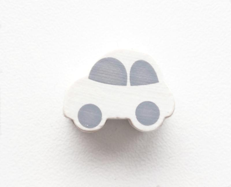 Auto Wit/Grijs 13x17mm