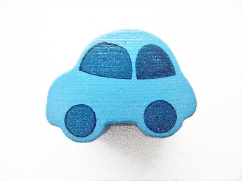 Auto Midden Blauw 13x17mm