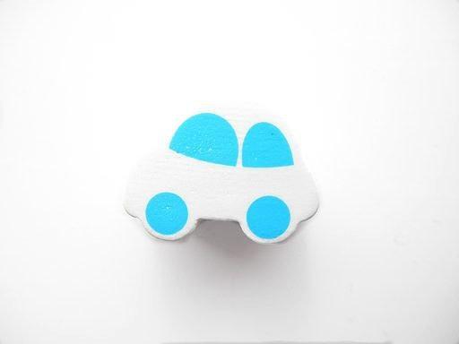 Auto Wit/Baby Blauw 13x17mm