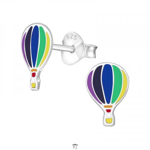 Zilveren Kinder Oorbellen Luchtballon