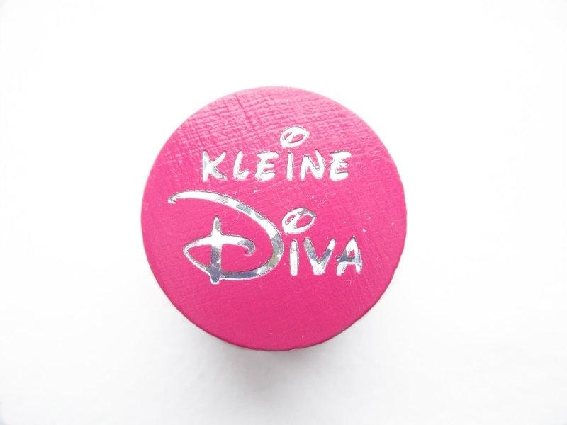 Speenkoord Kraal Kleine Diva Donker Roze 20mm
