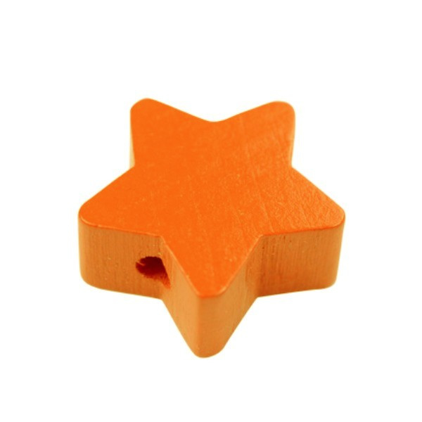 Speenkoord Kraal Ster klein Oranje 19mm