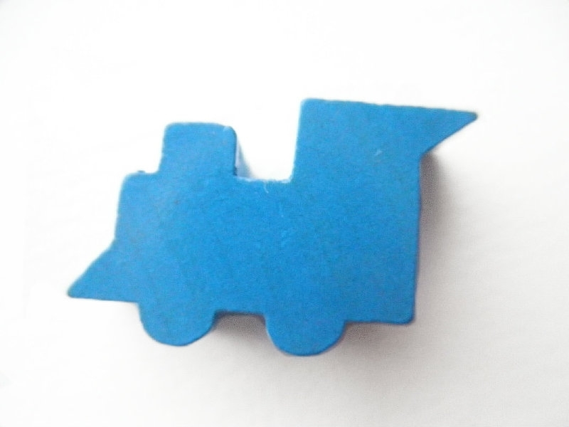 Locomotief Midden Blauw 14x27mm