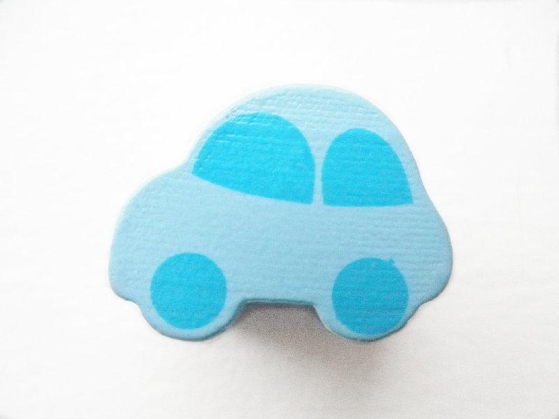 Auto Pastel Blauw/Baby Blauw 13x17mm