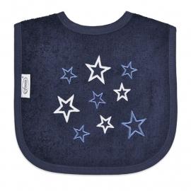 Slabbetje met sterren Navy
