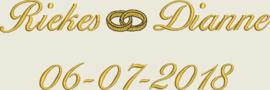 Huwelijkshanddoek met ringen