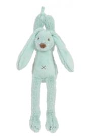 Muziek knuffel Rabbit Richie Lagoon/mint 28 cm