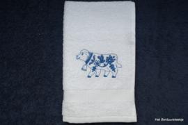 Gastendoekje Delfs Blauwe koe