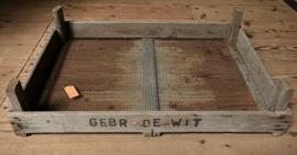 Oud houten bollenkrat