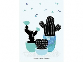 """Poster """"happy cactus family"""" (Sparkling Paper)"""
