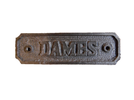 "Metalen plaatje ""dames"" (Harvey's Trading)"