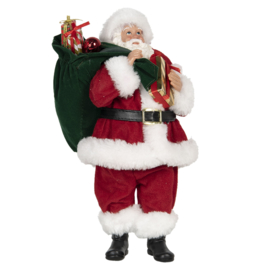 Decoratie kerstman met cadeaus (Clayre & Eef)